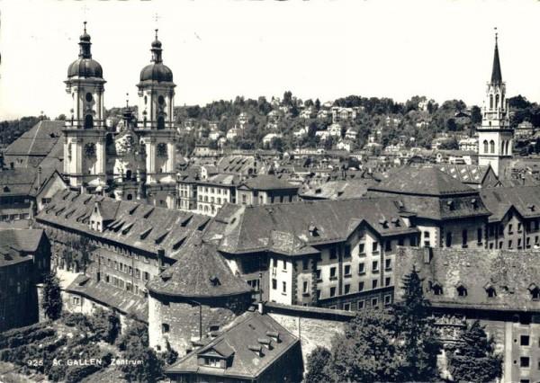 St. Gallen, Zentrum. Klosterkirche Vorderseite