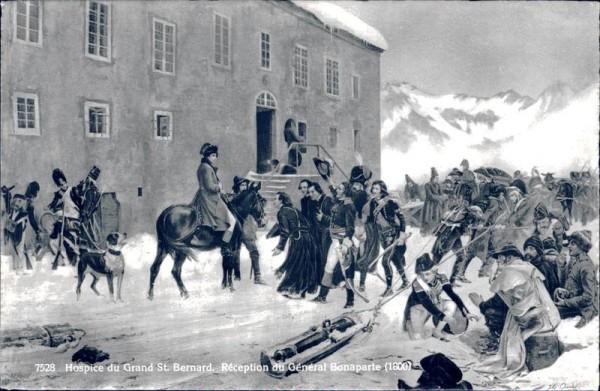Hospice du Grand St. Bernard, Réception du Général Bonaparte Vorderseite