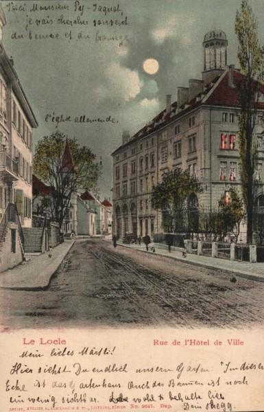 Le Locle. Rue de l`Hôtel de Ville Vorderseite