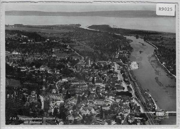 Fliegeraufnahme Rheineck mit Bodensee - Flugbild Aero Gross