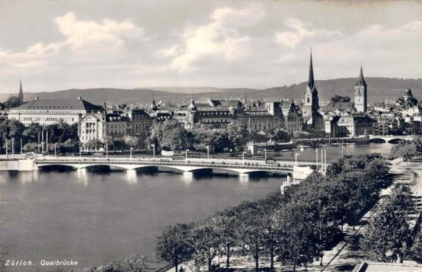 Zürich. Quaibrücke Vorderseite