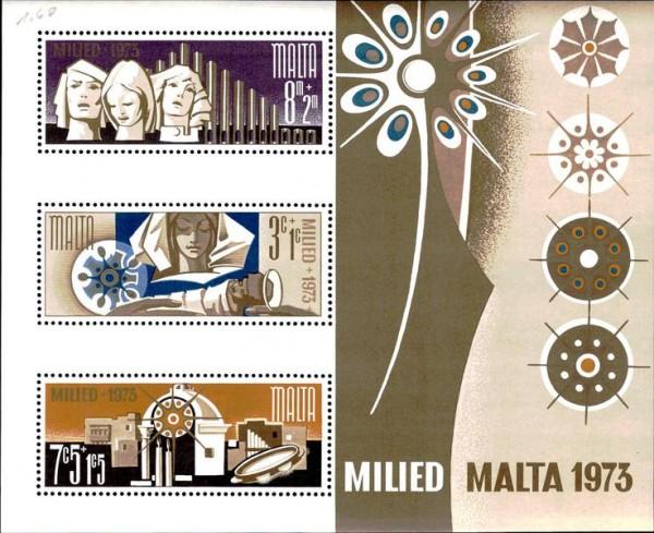 Briefmarken Malta 1973 Vorderseite
