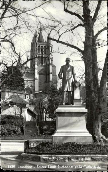 Lausanne, Statue Louis Ruchonnet  Vorderseite