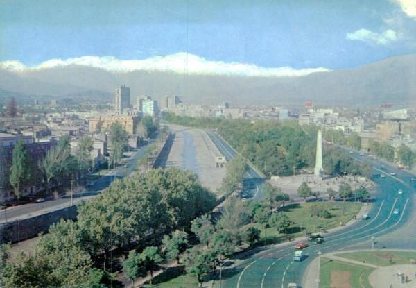 Santiago, Plaza Italia  Vorderseite