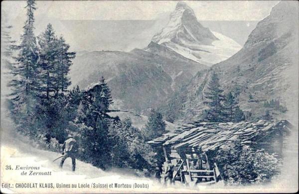 Environs de Zermatt, Chocolat Klaus Vorderseite