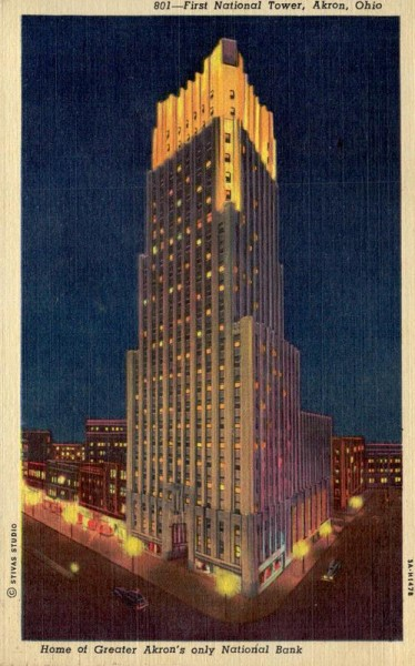 Akron Ohio, First National Tower Vorderseite