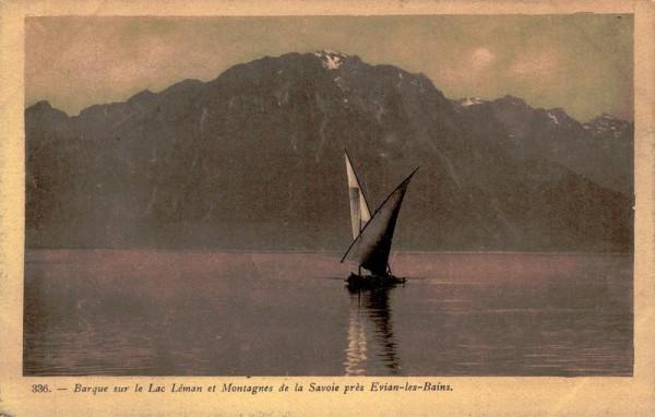 Barque sur le Lac Léman et Montagnes de la Savoie près Evian-les-Bains Vorderseite