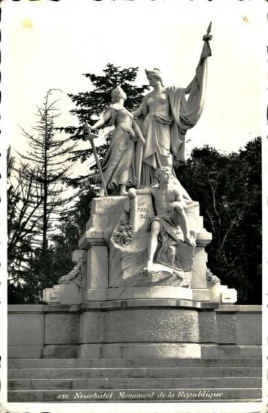Monument de la République, Neuchâtel Vorderseite