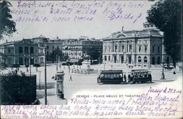 Genève, Place neuve et théatre Vorderseite