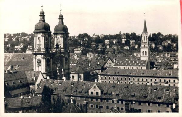 St. Gallen, Klosterkirche, St. Laurenzen. 1944 Vorderseite