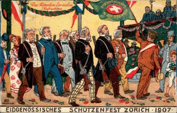 Zürich, Eidg. Schützenfest 1907 Vorderseite