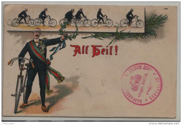 """All Heil - Radfahrerverein """"Frisch Auf"""" Erbenheim Gegr. 1904"""