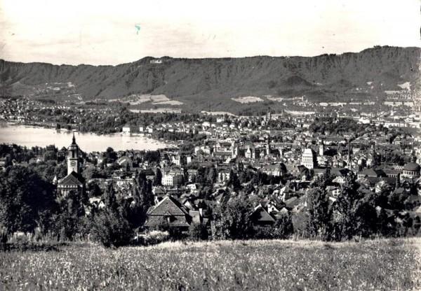 Zürich mit See und Uetliberg Vorderseite