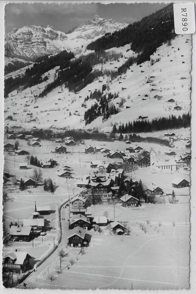 Flugaufnahme Lenk Rawilstrasse - Spilgerten im Winter