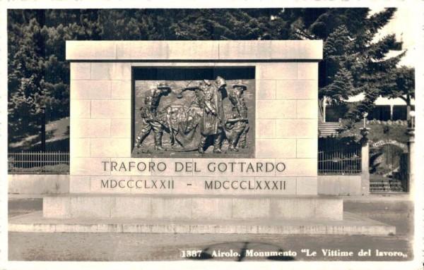 """Airolo. Monumento """"Le Vittime del Lavoro"""" Traforo del Gottardo Vorderseite"""