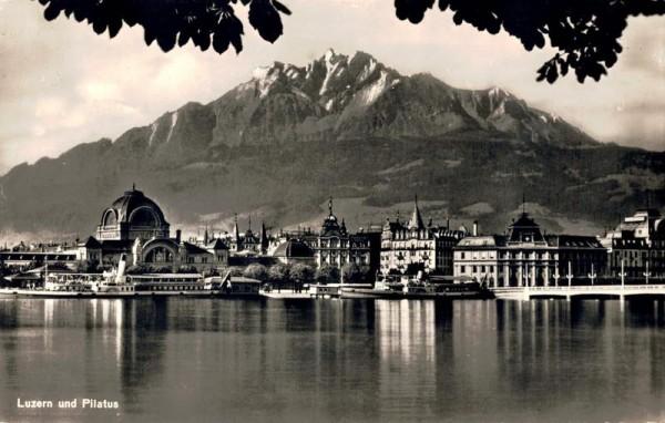 Luzern und Pilatus. 1948 Vorderseite