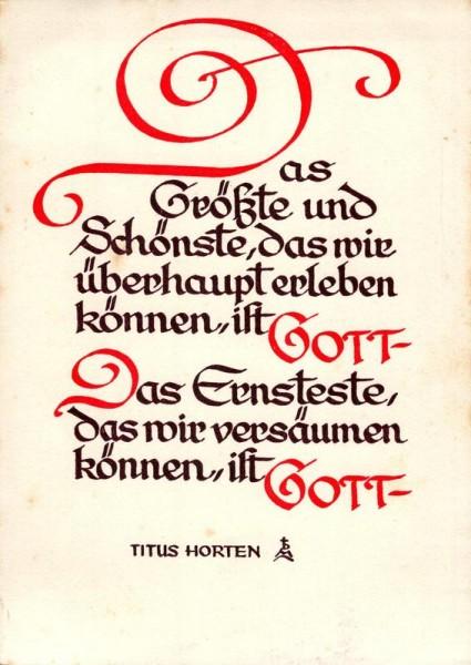 Titus Horten; Das Grösste und Schönste, das wir... Vorderseite