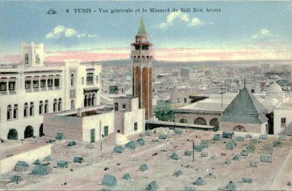 Tunis-Vue générale et le Minaret de Sidi Ben Arous Vorderseite