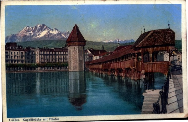 Kapellbrücke mit Pilatus, Luzern