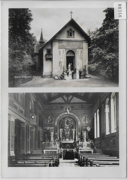 Maria Bildstein - Kapelle mit 4 Hochzeit Paare - Kapelle Inneres - animee belebt