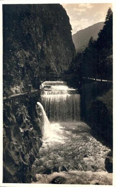 Ragaz, Taminaschlucht-Wasserfall. 1924 Vorderseite