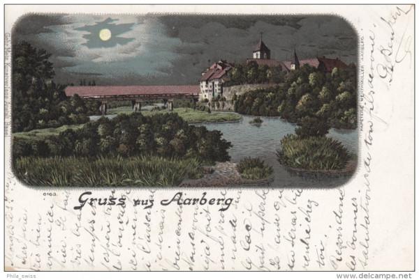 Aarberg, Gruss aus - Monschein-Litho