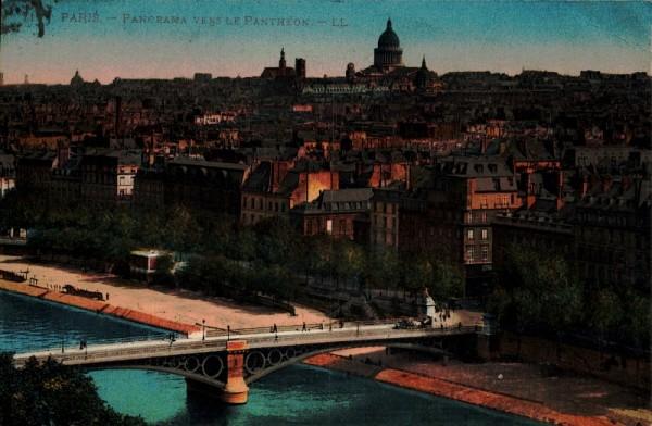Panorama vers le Pantheon, Paris