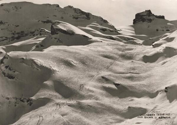 Jochpass mit Skilift u. Abfahrt Vorderseite