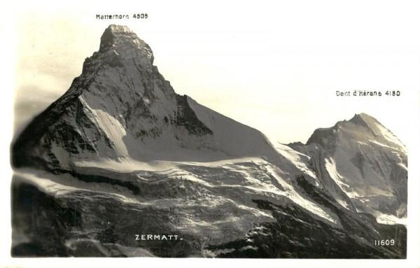 Matterhorn und Dent d'Hérens Vorderseite