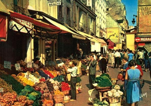 Paris, La rue Mouffetard Vorderseite