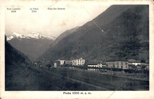 Piotta, 1908 Vorderseite