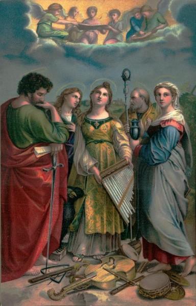 Raffaello Sanzio, Heilige Cacilie Vorderseite