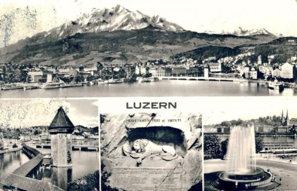 Luzern. Übersicht Vorderseite