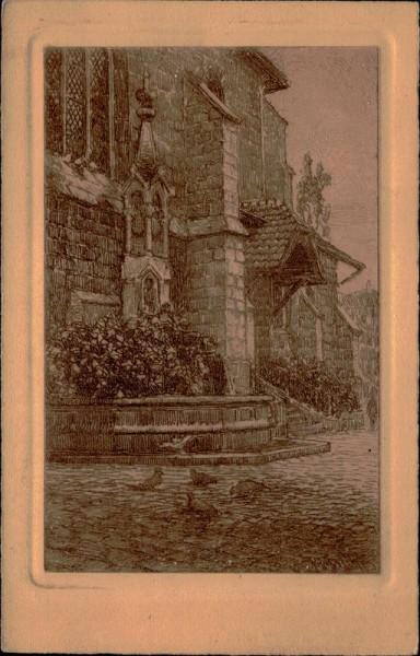Lausanne, le temple de St. François Vorderseite