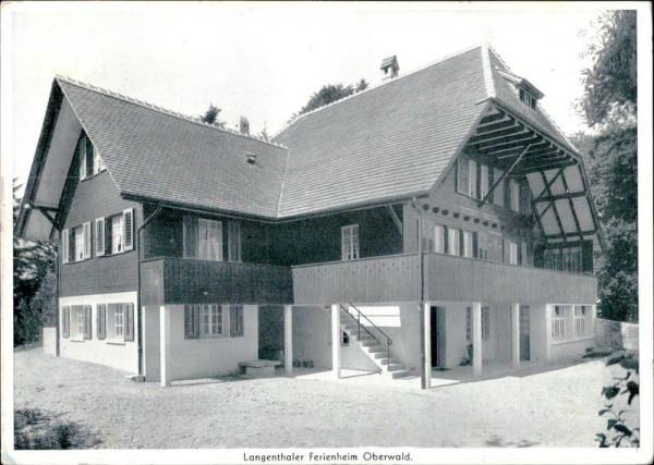Langenthaler Ferienheim Oberwald Vorderseite