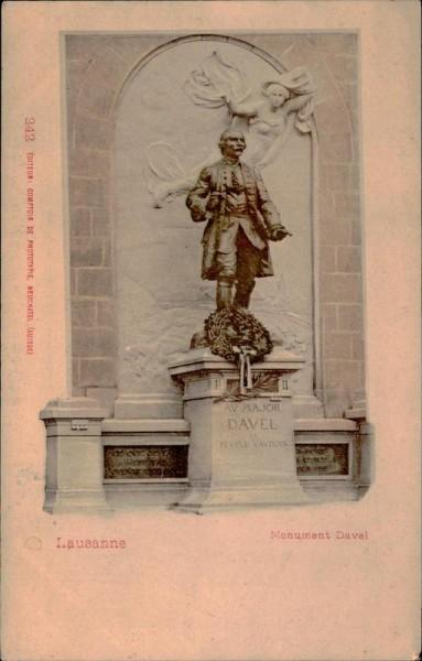 Lausanne, Monument Davel Vorderseite