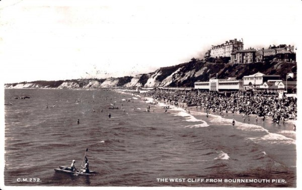 The West Cliff from Bournemouth Pier Vorderseite