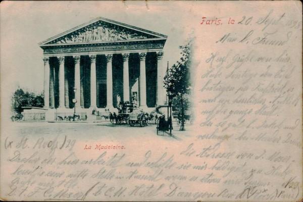 Paris, la Madeleine Vorderseite