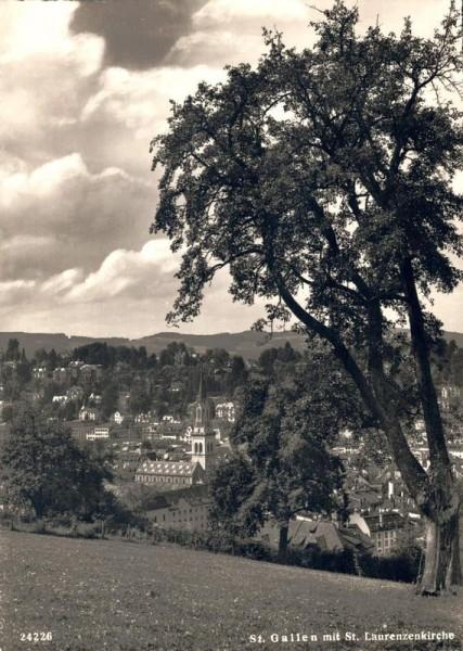 St. Gallen, St. Laurenzen. 1948 Vorderseite