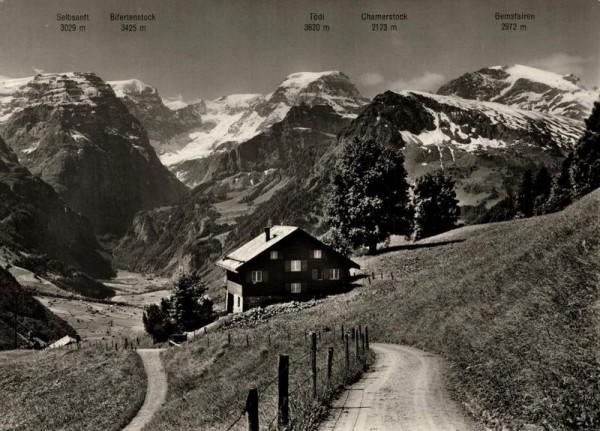 Braunwald. Blick gegen Tödi Vorderseite