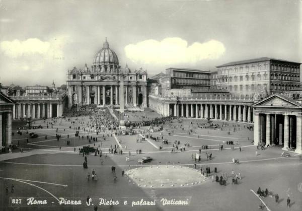 Piazza S. Pietro e palazzi Vaticani, Roma Vorderseite