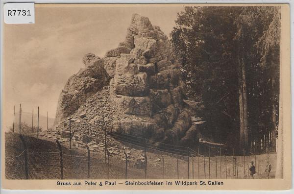 Gruss aus Peter & Paul - Steinbockfelsen im Wildpark St. Gallen